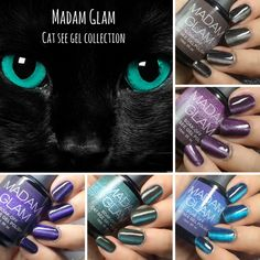 Have you tried them yet? You can obtain different effects depending on how you hold your magnetic stick or if you use different colors as base, to add a little more drama and depth to it, we suggest you use it over a black base!Thank you Nailstamp4fun for the beautiful images! #madamglam #madamglamgelpolish #madamglamcatsee #cateyegels #nailart #allnightlong #flyingpurple #lookmeintheeye #theaffair #roundtheclock