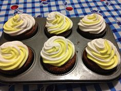 Banana and vainilla twist cupcakes
