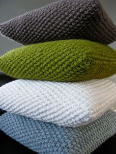Knit pillows. | Flickr - Photo Sharing!