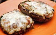 Omelette aux champignons sur le BBQ