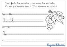 Blog Professor Zezinho : Caligrafia das vogais!
