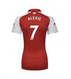 Arsenal Alexis Sanchez 7 Hemmatröja Dam 17-18 Kortärmad Neymar, Messi, Alexis Sanchez, Arsenal, Manchester United, Ronaldo, Real Madrid, Wetsuit, Sports
