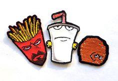 Individual or Set Master Shake Frylock Meatwad  by MelarkyStore