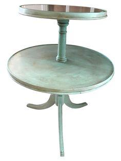 Aqua Two Tier Side Table