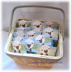 Adorable sheep baby shower invites.