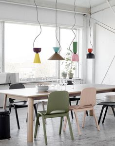 Alphabeta Pendant Lamp, awesome kitchen or living room lights. Creative, colorful and stylish. Table Design, Dining Room Design, Interior Desing, Interior Inspiration, Room Interior, Room Inspiration, Home Lighting, Lighting Design, Custom Lighting