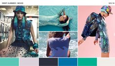this is the deep summer mood board that i will be drawing ideas from and using as inspiration to complete my range plan. i also sourced this mood board off the WGSN website.