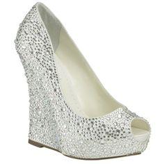 Wedding Shoes , 5 Charming Platform Wedge Wedding Shoes : Mila Wedding Shoes By Benjamin Adams