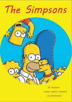 Capa da revista que eu estou diagramando´´dos Simpsons