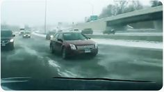 This driver had the scare of a lifetime when his car slid out of control on an icy highway - all is caught on dash cam.  We're not quite sure which feeling is stronger - the sinking feeling in your gut when your car is sliding out of control or the wave of relief when the crisis is averted. T