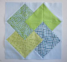 Disappearing card trick quilt block-   so cool