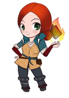 I'ts my drawing cute little Triss :) Triss Merigold The Witcher 3 Geralt