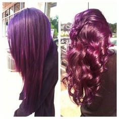 I have an obsession with red, burgundy and purple hair colors