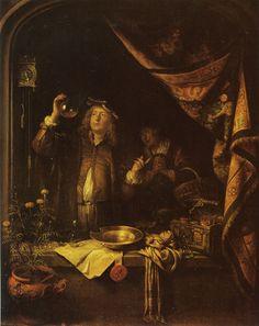 Gerard Dou - A Doctor Examining Urine
