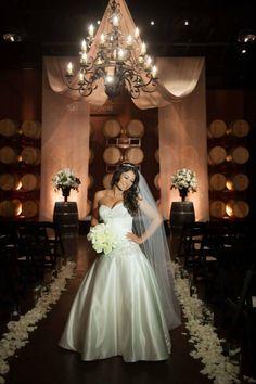 Palm Event Center - Pleasanton, CA Beautiful bride Jenni Drapes - Amos Productions Photo - YJM Photography