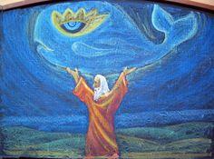 Waldorf ~ 5th grade ~ Ancient History ~ Manu ~ chalkboard drawing