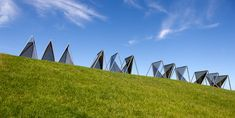 Graham Bennett Sea/Sky Kaipara 1994 4 tri-part stainless steel and glass units 2 x 2.1 x 25m