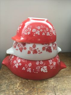 Part set Coral Gooseberry Pyrex