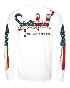 AVAILABLE FOR PRE-ORDER WILL SHIP BY SEPT. 7 2016  Spooled American Flag Performance Long Sleeve SPF-30 Vibrant Full Color High-Resolution Dye Sublimation Prints. 30% UV protection  Visit SpooledFishingApparel.com  FREE SHIPPING on all orders over $50 for the rest of the week  FREE DECAL with every order.  #buckedup #spooled #getbuckedup #backwoods #redneck #country #countrygirl #countrygirls #countryliving #buff #tanktops #shescountry #countrygirls #beach #ocean #girlsfishtoo…