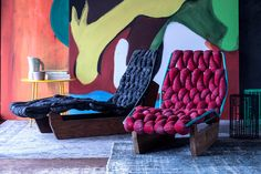 Contemporary lounge chair / ash / residential / by Patricia Urquiola - BIKNIT - MOROSO Lounge Design, Chaise Longue Design, Chair Design, Furniture Design, Patricia Urquiola, Lounge Chair, Leather Lounge, Interior Decorating, Interior Design