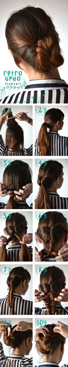 hair tutorials for medium hair
