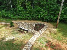 Winding path in your backyard