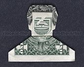 Dollar Origami SMILING DUDE- Great Gift - Man Guy Dad Father Homie Money