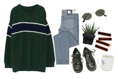 """А"" by vusvvv ❤ liked on Polyvore featuring Alöe, Cheap Monday, Dr. Martens and Ray-Ban"