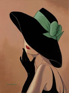 Lorraine Dell Woo ~ Flirty Hat,Lorraine Dell Wood Tutt'Art@ () How To Make Wood Art ? Wood art is generally the task of surrounding about and inside, provided the outer lining of so. Art And Illustration, Pop Art, Art Drawings, Canvas Art, My Arts, Artsy, Sketches, Artwork, Green Ribbon