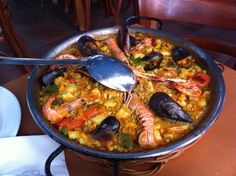 Perfect paella at the beach in Barcelona...