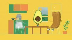 An avocado sings about its life. Try her on toast for breakfast!- iSpot.tv - I love avocados and I love this little tv commercial.  :)  Happy little dancing avocado.