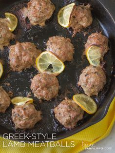 meatballs upon serving. These meatballs are fantastic with the tomato & olive salad as a side (add cucumbers to make it a more traditional Greek salad). Yes, you can enjoy this recipe while on The Sugar Detox. Greek Recipes, Meat Recipes, Paleo Recipes, Cooking Recipes, Recipes For Lamb, Greek Meals, Turkish Recipes, Summer Recipes, Recipies