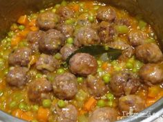 Albondigas, Summer Recipes, Beef, Ethnic Recipes, Food, Snap Peas, One Pot Dinners, Easy Food Recipes, Beverages