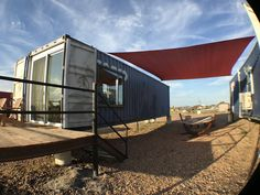 Flophouze - an eco-chic container hotel in Round Top, Texas