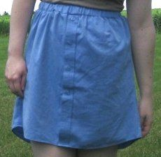 Skirt From Men's Button Down | AllFreeSewing.com