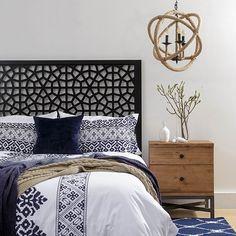 Marrakesh Black Bed Head by Zanui   Zanui