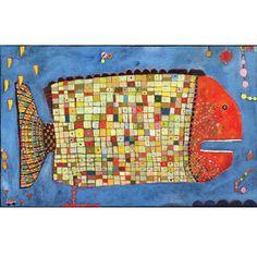 Fun fish painting - Paul Klee I do not know why the little car is in the bottom left corner? Illustrations, Illustration Art, Cute Fish, Collage, Fish Art, Art Design, Art Plastique, Teaching Art, Elementary Art