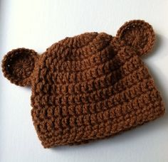Newborn Baby Boy Crochet Hat Chocolate by LakeviewCottageKids, $18.00