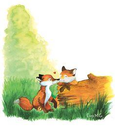 sweet fox illustration.