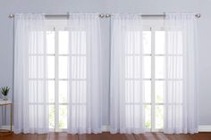 11 Best White Sheer Curtains - CountryCurtains Sheer Linen Curtains, Sheer Curtain Panels, Window Curtains, Cactus Shower Curtain, Room Darkening Curtains, Patio Doors, Window Treatments, Luxury Homes, Rod Pocket