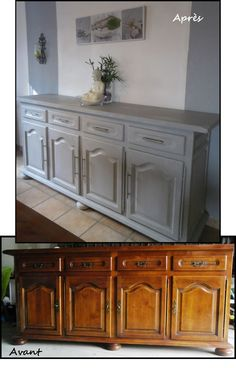 77 Relooker Old Furniture In Modern - Home Page Diy Furniture Flip, Refurbished Furniture, Paint Furniture, Repurposed Furniture, Furniture Projects, Furniture Makeover, Office Furniture, Furniture Restoration, Diy Home Decor
