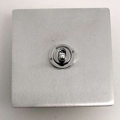 Victorian Dolly Switch Satin Chrome 1 Gang 2 Way