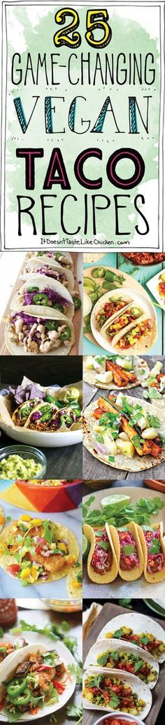 Extra Off Coupon So Cheap 25 Game-Changing Vegan Taco Recipes. Bring on Taco Tuesday! Everything from quick and easy crispy and chewy breakfast or dinner all dairy-free egg-free and vegetarian. Vegan Foods, Vegan Dishes, Vegan Vegetarian, Vegetarian Recipes, Healthy Recipes, Vegetarian Breakfast, Vegan Meals, Quick Recipes, Breakfast Tacos