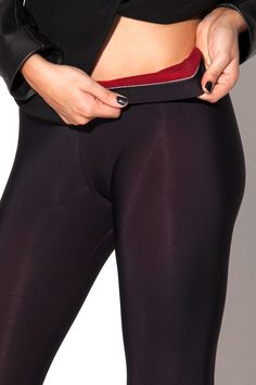 Warm Leggings - LIMITED  (Close Up) by Black Milk Clothing