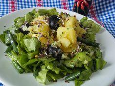 Hellena  ...din bucataria mea...: Salata de cartofi cu usturoi  - de post Potato Salad, Veggies, Potatoes, Meat, Chicken, Ethnic Recipes, Food, Salads, Potato