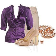 Purple & Cream