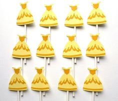 Items similar to 12 Belle Themed Dress Cupcake Toppers Disney Princess Themed Birthday Party Decoration on Etsy Princess Party Decorations, Birthday Party Decorations, Cupcake Toppers, Disney Princess, Handmade Gifts, Desserts, Etsy, Food, Dress
