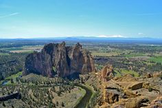 Smith Rock State Park in Terrebonne, Oregon. Views of the Cascade Mountain range in the background. ---------- @chrilwright