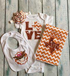 University of Texas Longhorn LOVE Bodysuit by SweetPinspirations
