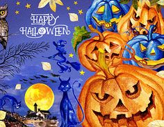 """Check out new work on my @Behance portfolio: """"Watercolor Happy Halloween"""" http://be.net/gallery/57383161/Watercolor-Happy-Halloween"""